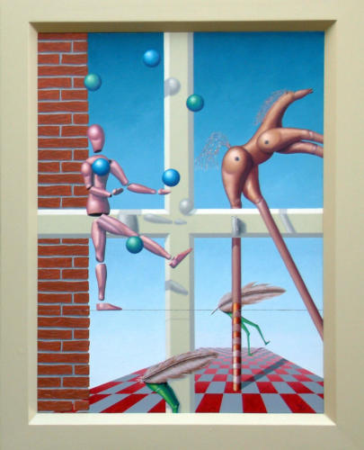 2003 - Het circus de volgende dag   ( 80 x 60cm )/The circus the next day  2003 ( 80x60 cm )
