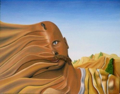 Gezichtsverlies 1987  ( 40x50 cm )