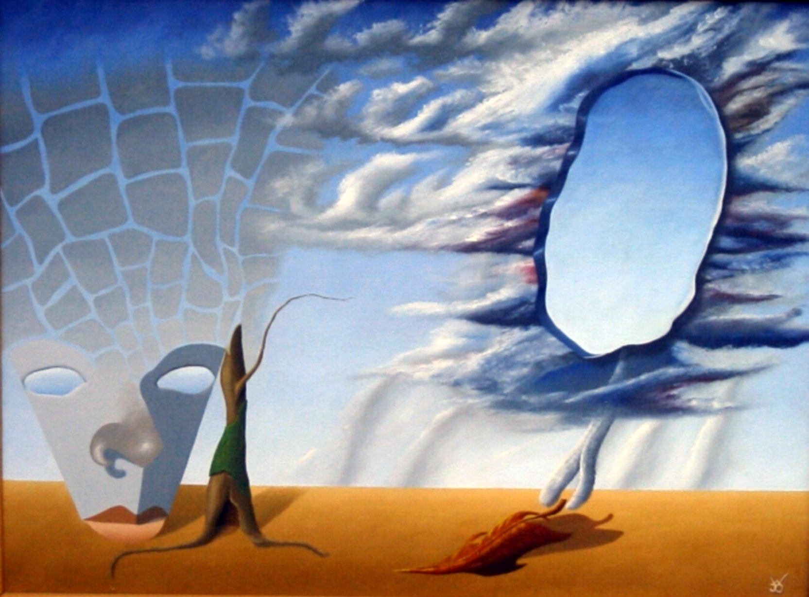 De herfstgodin   1995 ( 60x80 cm )/Autumn goddess   1995 ( 60x80 cm )