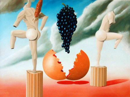 Afkeer van de aanbidding der druiven   1996 ( 60x80 cm )/Aversion to the worship of grapes   1996 ( 60x80 cm )