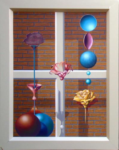 2003 -  De metamorfose van de roos   ( 80x60 cm )/The metamorphosis of the rose