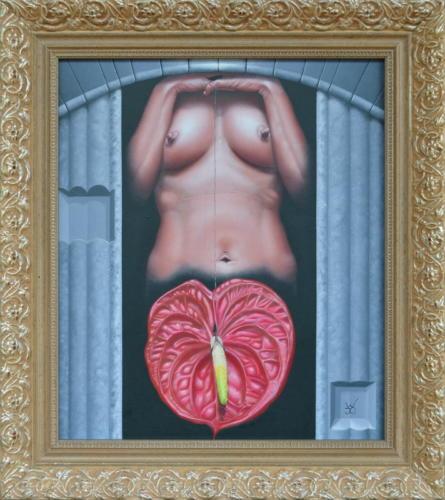 2019 - De Anthurium      ( 35x30 cm )/The Anthurium